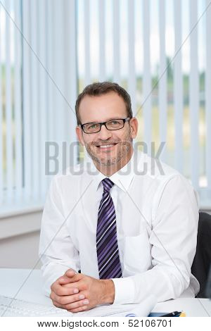 Confident Friendly Businessman