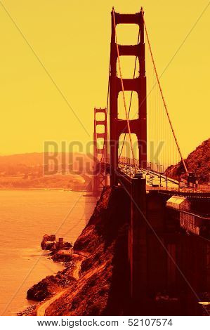 Stylised Golden Gate