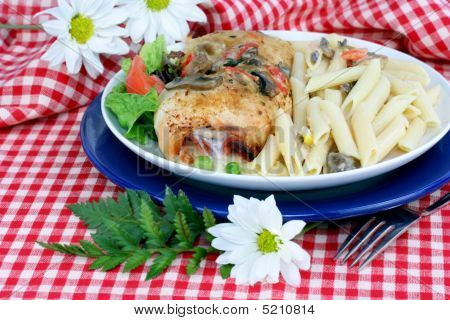 Chicken Cordon Bleu With Penne Pasta