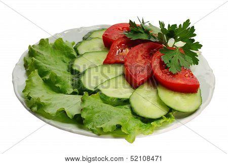Cucumber And Tomato Segments