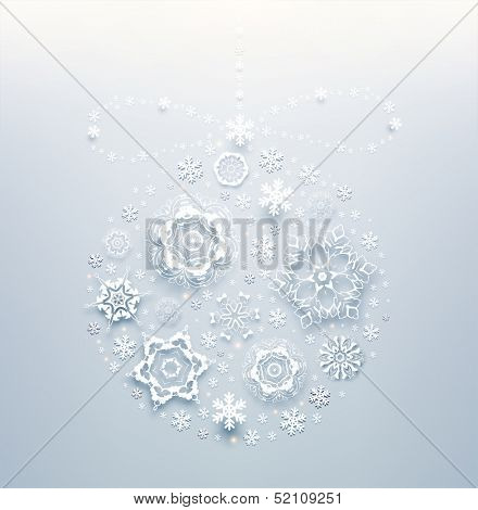 Abstract Christmas Background, Christmas bauble vector