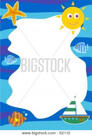 Seaside Border poster