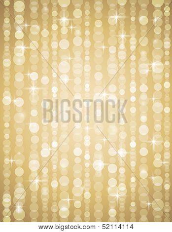 Golden Brightnes Illustration Suitable For Christmas Or Disco Backround