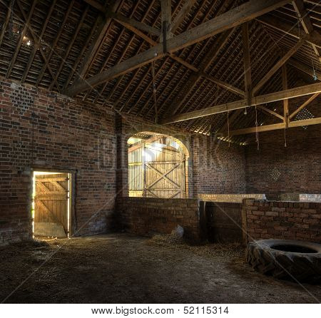 Traditional English hay barn