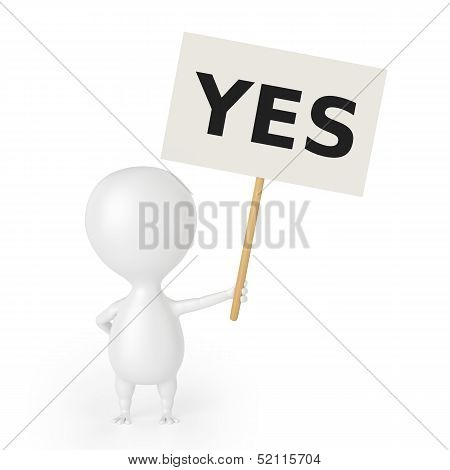 Character With Placard (YES)