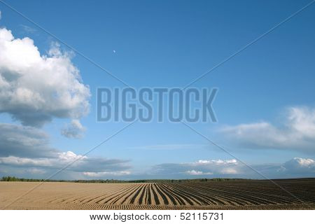 Plough agriculture field background
