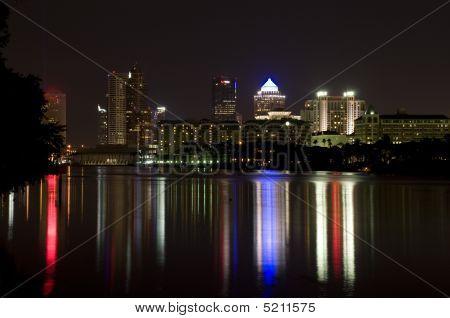 Tampa river night scene