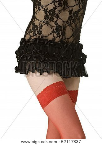 Bodypart in red stockings