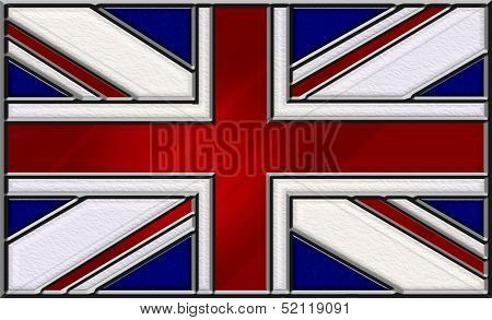 Stained Glass Union Jack Flag Of Great Britain