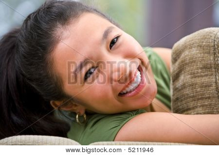 Cheerful Female Teenager