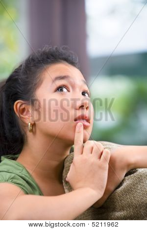 Contemplating Female Teenager