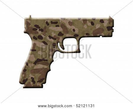 Camouflage Handgun