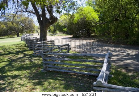 Zig Zag Fence & Country Road