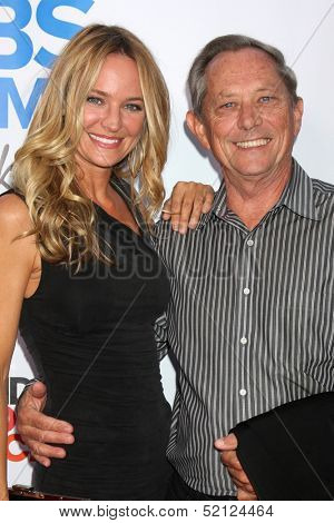 LOS ANGELES - OCT 8:  Sharon Case, father Jim Case at the CBS Daytime After Dark Event at Comedy Store on October 8, 2013 in West Hollywood, CA