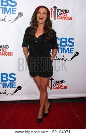 LOS ANGELES - OCT 8:  Melissa Claire Egan at the CBS Daytime After Dark Event at Comedy Store on October 8, 2013 in West Hollywood, CA
