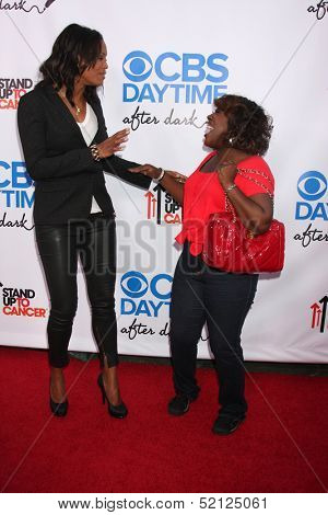 LOS ANGELES - OCT 8:  Aisha Tyler, Sheryl Underwood at the CBS Daytime After Dark Event at Comedy Store on October 8, 2013 in West Hollywood, CA