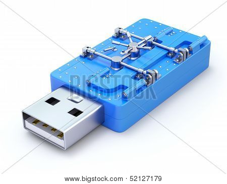 USB Flash Drive with the vault