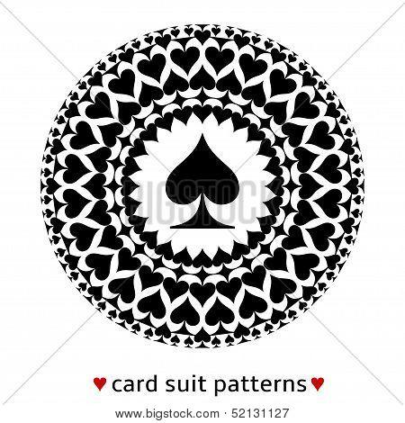 Spade card suit pattern