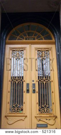 Antique Yellow Doors