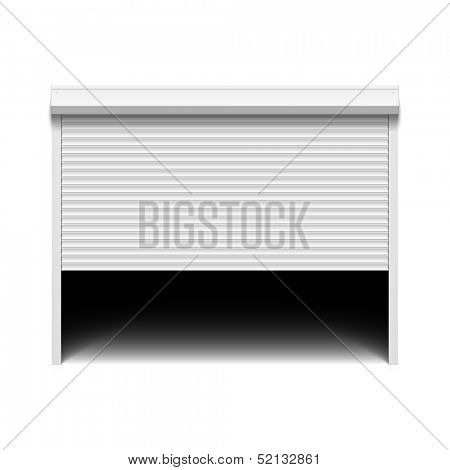 Roller shutter garage door. Vector.
