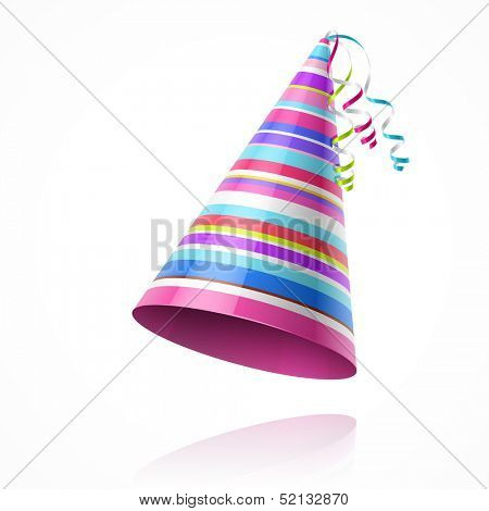 Party hat. Vector.