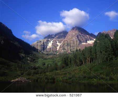 Maroon Bells Summer Clouds