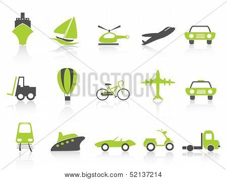 Transportation Icons Nature Green Series