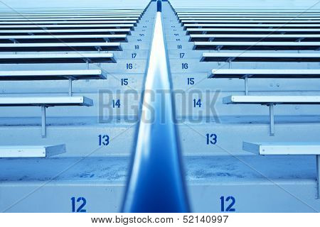 Row after Row of Stadium bleachers and seating