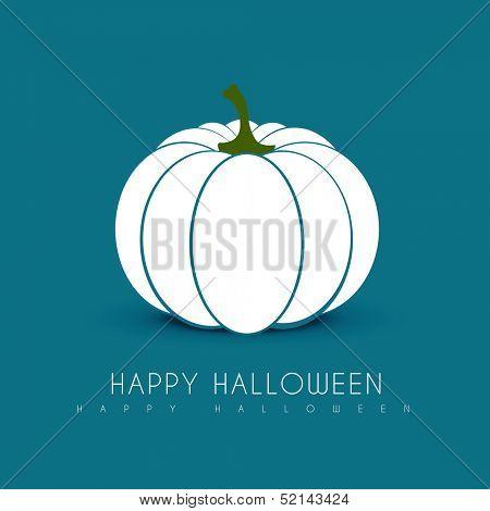 halloween white pumpkin design illustration
