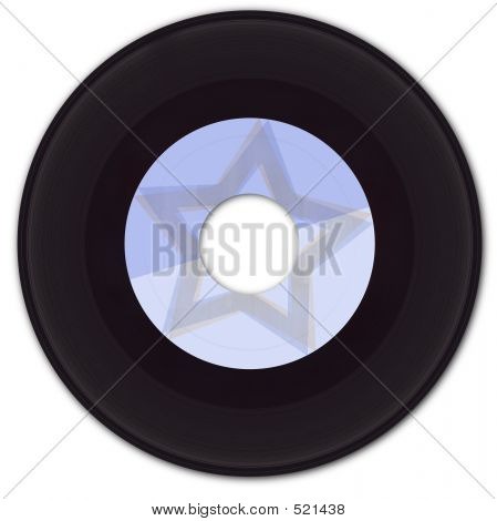 Registro con falsa etiqueta de vinilo de 45 rpm