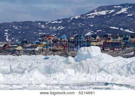 Ilulissat, Greenland, Seen From The Sea