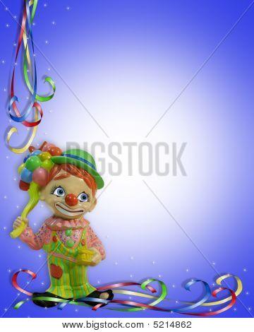 Birthday Invitation Clown child