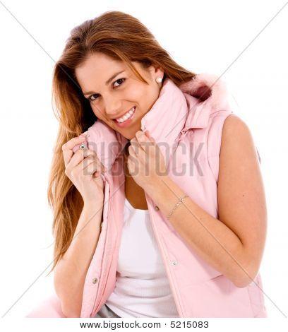 Casual Lächelnde Frau
