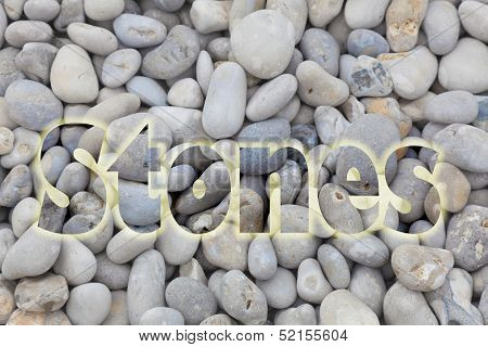 Stones In The Beach Of Etretat, Haute Normandie, France