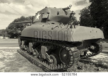 Tank In Colleville-sur-mer, Normandy, France