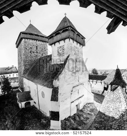 Medieval Church In Homorod,transylvania