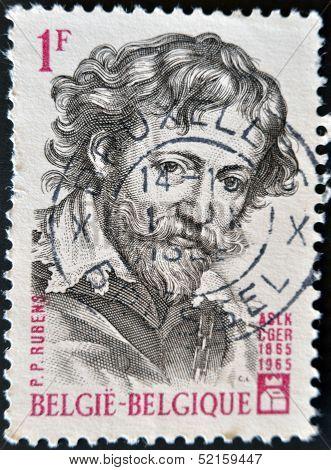 Belgium - Circa 1965: A Stamp Pritned In Belgium Shows Rubens, Circa 1965