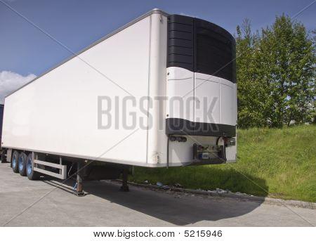 Truck Trailer White