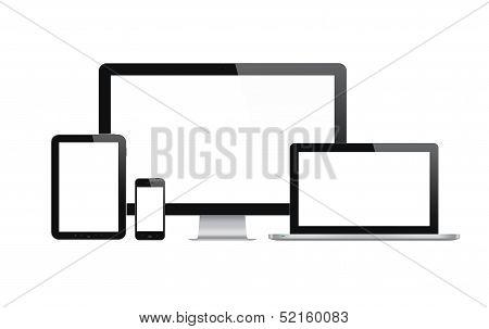 Conjunto de dispositivos de tecnología moderna