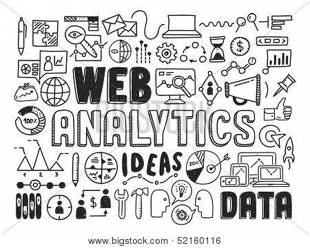 Web Analytics Doodle elementen