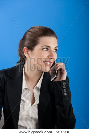 Businesswoman Calling At Phone
