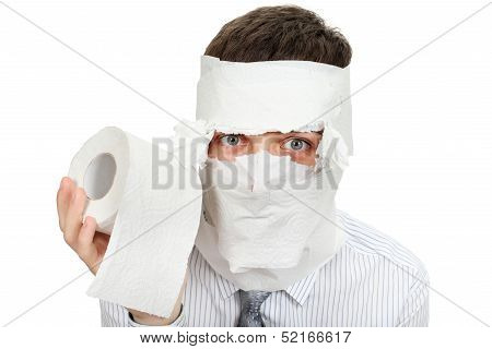 Man With Toilet Paper