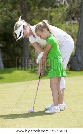 Lição de golfe