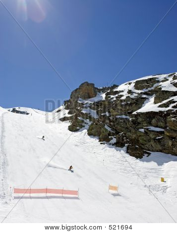 Ski Slopes Of Prodollano Ski Resort In Spain