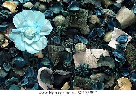 Background Of Blue Potpourri