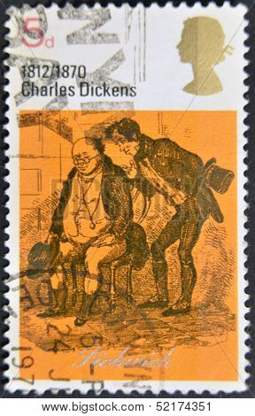 A Stamp Printed In Great Britain Shows