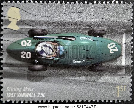 Stamp In Commemoration Of The 50Th anniversary of the British Grand Prix held at Silverstone