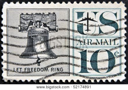 United States - Circa 1959 : Depicting Liberty Bell, In-scripted