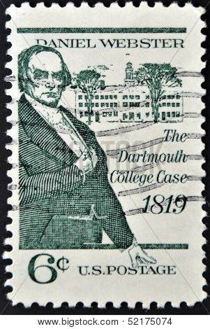 United States - Circa 1969: Stamp Printed By United States, Shows Daniel Webster, Circa 1969