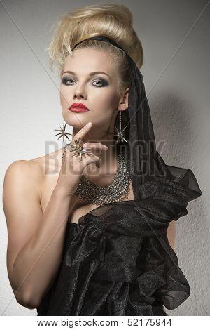 Sensual Woman In Halloween Portrait